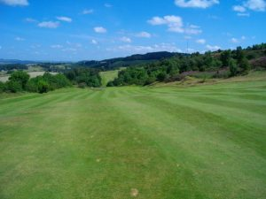 Links style course on Scotland's hills