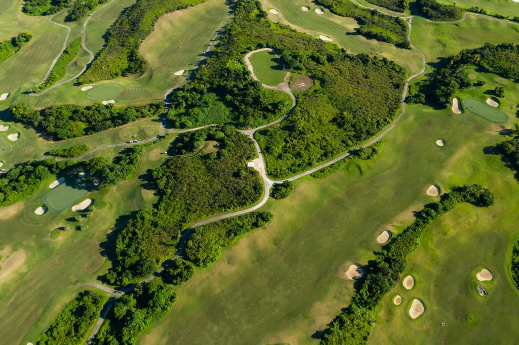 Aerial view of the golf court
